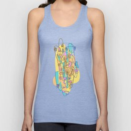 Abstract Faces JL8-20 (Filled) Unisex Tank Top