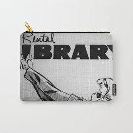 Vintage Rental Library Carry-All Pouch