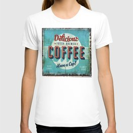 Vintage Style Coffee Sign T-shirt
