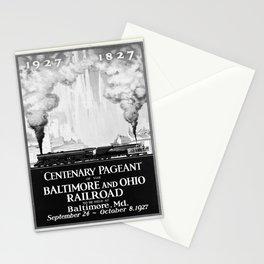 retro noir et blanc Centenary Pageant Stationery Cards