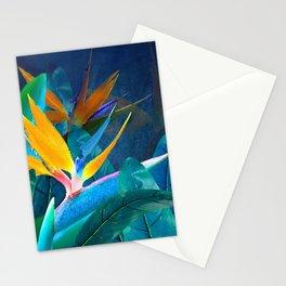 Bird of Paradise Under a Hawaiian Moon Stationery Cards