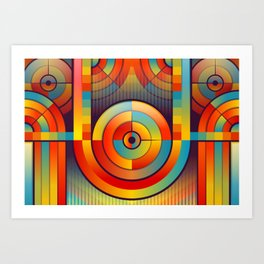 Abstract Background 263 Art Print