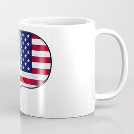 Grand Piano USA Flag Coffee Mug