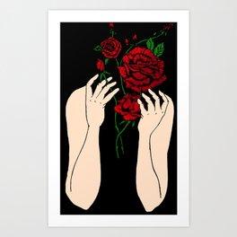 Heather's Flowers Art Print