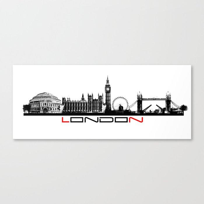 London skyline city #london Canvas Print