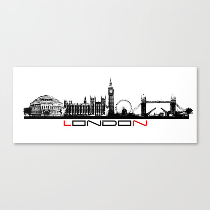 London skyline city #london Canvas Print