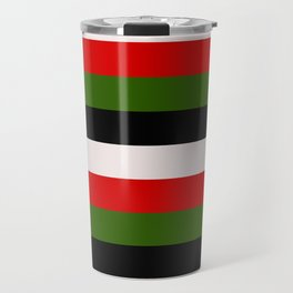 Four Tone Stripes - Christmas Travel Mug