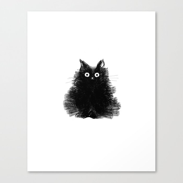 Duster - Black Cat Drawing Leinwanddruck