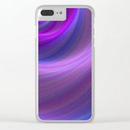 Purple storm Clear iPhone Case