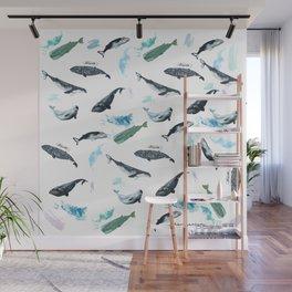cetacean pattern Wall Mural