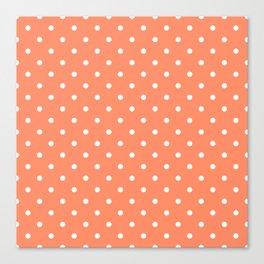 Peach Polka Dots Canvas Print