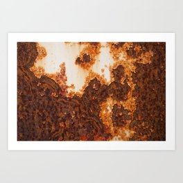 An old rusty stains surface corrosion Art Print