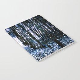 Magical Forest Dark Blue Elegance Notebook