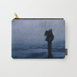 Silhouette in the fog Carry-All Pouch