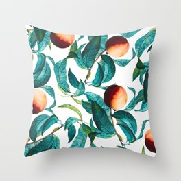 Fruit and Leaf Pattern Throw Pillow