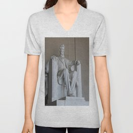President Lincoln Statue - Washington DC Unisex V-Neck