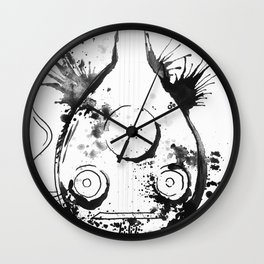 OUD IN WHITE - madewithunicorndust by Natasha Dahdaleh Wall Clock
