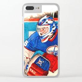 Goalie Bob Clear iPhone Case