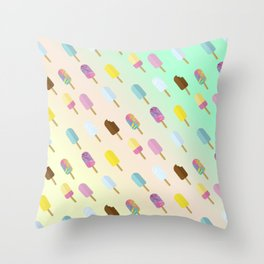 Popsicle Summer Throw Pillow