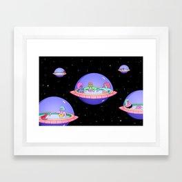 SPACE POD JACUZZIS Framed Art Print