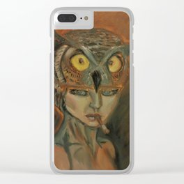 stare of an owl Clear iPhone Case