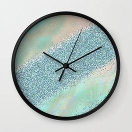 Opal unicorn rainbow Wall Clock