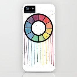 Watercolor Color Wheel iPhone Case