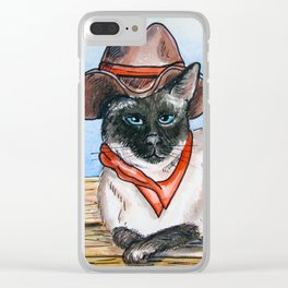 Yang Cowgirl Kitty Clear iPhone Case