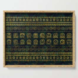 Maya Calendar Glyphs pattern Serving Tray