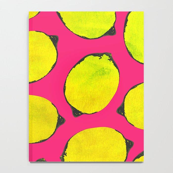 Lemon pattern Notebook