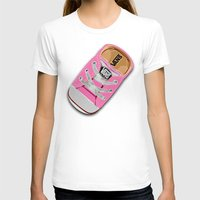 vans T-shirts featuring Cute pink Vans all star baby shoes apple iPhone 4 4s 5 5s 5c, ipod, ipad, pillow case and tshirt by Three Second