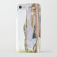 fishing iPhone & iPod Cases featuring Fishing by Vargamari