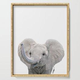 Elephant Calf Art Serving Tray