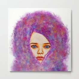 Cotton Candy Innocence Metal Print