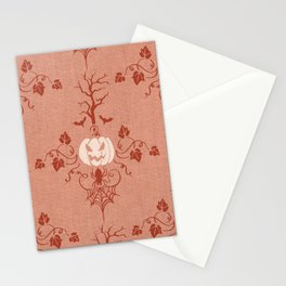Vintage Halloween in Orange Stationery Cards