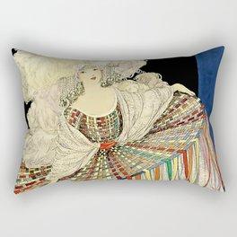 "Art Deco Design ""Multicolored Pannier"" Rectangular Pillow"