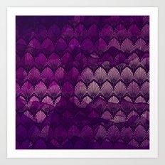 Variations on a Feather II - Purple Haze  Art Print