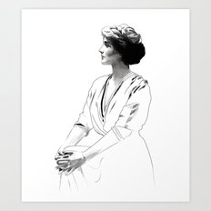 Coco - illustration of the young fashion icon Art Print