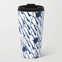 Blue bare trees and stains Travel Mug