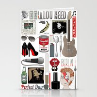 lou reed Stationery Cards featuring A tribute to Lou Reed by Lili's Damn Fine Shop