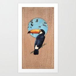 Mr Toucan Art Print