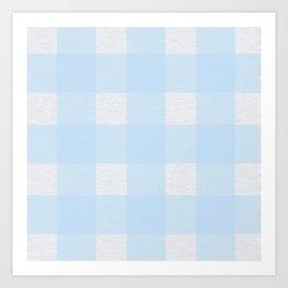 Blue Block Plaid Art Print