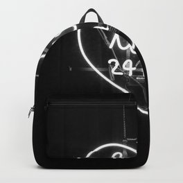 Love 24 Hours (Black and White) Backpack
