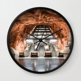 Rådhuset Metro Station in Stockholm, Sweden Wall Clock