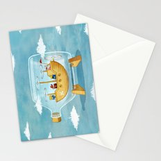 AIRSHIP IN A BOTTLE Stationery Cards