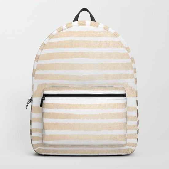 White Gold Sands Shibori Stripes Backpack