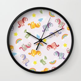 Rainbow Ponies Wall Clock