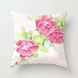 Cafe Roses Throw Pillow