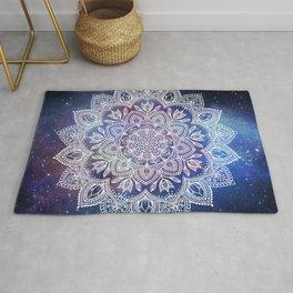 Boho Mandala - White on Galaxy Rug