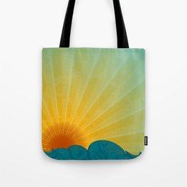 Vintage Ocean Sunset Tote Bag